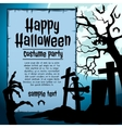 Graveyard and zombie hand vector image vector image