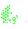 green honeycomb denmark map vector image vector image