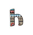 h letter small vector image vector image