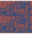 Hand drawn seamless pattern with big city New York vector image vector image