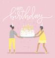 happy birthday greeting catd birthday party big vector image vector image