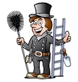 Happy Chimney Sweep vector image