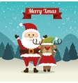 happy merry christmas santa claus character vector image vector image