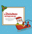 happy merry christmas santa claus character vector image vector image