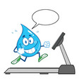 healthy water drop cartoon character running vector image vector image
