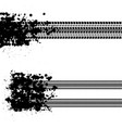 ink blots grunge tire tracks vector image vector image