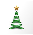 lace-up christmas tree made laces vector image vector image