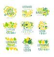 lemonade 100 percent pure lemon set for label vector image