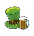 leprechaun hat design vector image