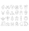 linear collection christmas icons vector image vector image