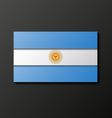 Modern style Argentinean flag vector image