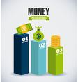 money infographics vector image