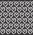 monochrome seamless pattern of loops shaped vector image vector image