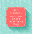 New Year and Christmas Card Flat design Seamless vector image