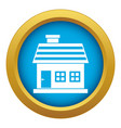 one-storey house icon blue isolated vector image vector image