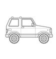 outline off-road suv car body style icon vector image vector image