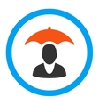 Patient Safety Rounded Icon vector image vector image