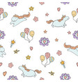 pattern with cute unicorns pattern with vector image