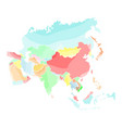 political map of asia vector image