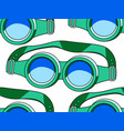 protective spectacles pattern vector image vector image