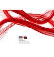 red abstract wave background modern design with vector image vector image