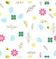 Romantic letters and flowers seamless pattern vector image