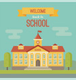 school building banner with text welcome back to vector image vector image