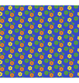 Seamless bright summer pattern with flowers vector image vector image