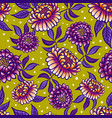 seamless medievial pattern with fantasy flowers vector image vector image