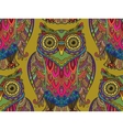 Seamless pattern with a lot of beautiful owls vector image