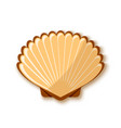 seashell icon in flat style placed on white vector image vector image