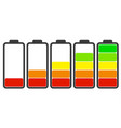 set charge on white vector image vector image