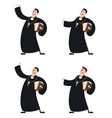 Set of Catholic priests vector image vector image