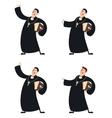 Set of Catholic priests vector image