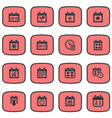 set simple calendar icons vector image