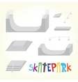 skatepark isolated parts vector image