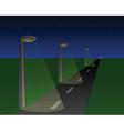 Street at night vector image