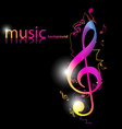 stylish music design vector image vector image