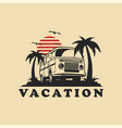 summer vacation car logo template vector image vector image