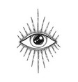 the eye providence masonic symbol all seeing vector image vector image