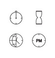 time outline icons set vector image vector image