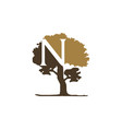 tree letter n vector image vector image