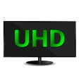 Ultra High Definition Television vector image vector image