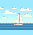 yacht in the sea vector image