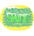 yellow and green spring graffit vector image vector image