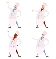 Set of cooks vector image