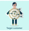 Target customer concept vector image