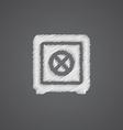 bank safe sketch logo doodle icon vector image