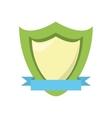 green shield protection emblem blue ribbon vector image