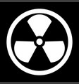 sign radioactive the white color icon vector image